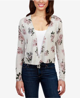 Lucky Brand Floral-Print Tie-Front Cardigan