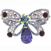 Butler & Wilson Butler and Wilson Amethyst Purple Bow Brooch