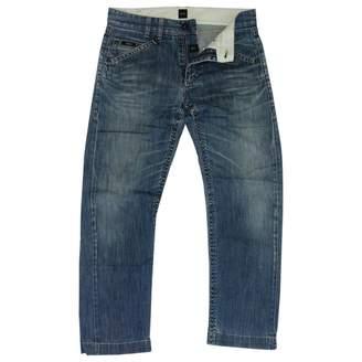 HUGO BOSS Blue Cotton Jeans
