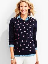 Talbots Sequin Hearts Sweater