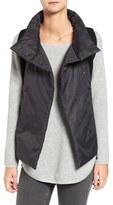 Eileen Fisher Women's Mixed Media Funnel Neck Vest