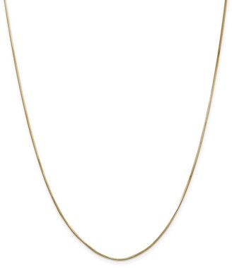 Curata 14k Yellow Gold Solid 1.0mm Diamond-cut Octagonal Snake Chain Necklace