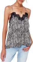 CAMI NYC The Racer Silk Charmeuse Camisole w/ Lace