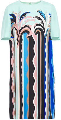 Emilio Pucci Printed Silk-satin Twill Mini Dress