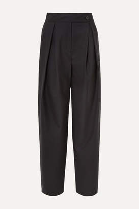 LE 17 SEPTEMBRE - Pleated Wool Wide-leg Pants - Navy