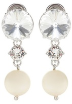 Miu Miu Crystal-embellished Clip-on Earrings