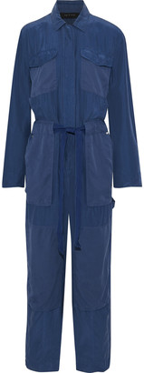 Rag & Bone Henri Tie-front Washed-silk Jumpsuit