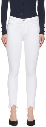 Frame White Le High Skinny Triangle Jeans