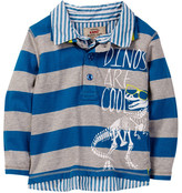 Kanz Dinomania Long Sleeve Polo (Toddler, Little Boys, & Big Boys)