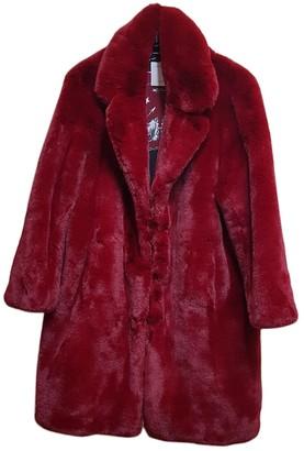 Sandro Fall Winter 2018 Burgundy Faux fur Coats
