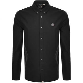 Pretty Green Oxford Long Sleeved Shirt Black