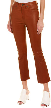 Rag & Bone Hana Dry Henna Leather High-Rise Curvy Skinny Leg