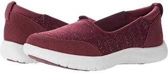 Clarks Adella Blush (Burgundy Textile) Women's Shoes