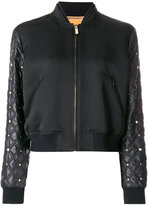 Versace quilted sleeve bomber jacket - women - Silk/Cotton/Acrylic/Acetate - 40