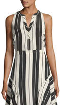 Joie Aruna Sleeveless Striped Silk Top