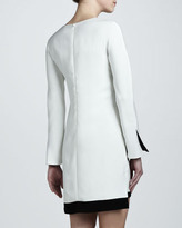 J. Mendel Long-Sleeve Crepe Shift Dress