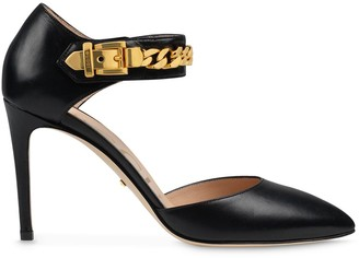 Gucci Chain-Detail 95mm Pointed Pumps