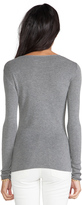 Alexander Wang Fitted Knit Long Sleeve Pullover