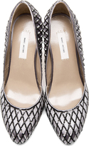 Marc Jacobs Grey Fishnet Sequined Pumps