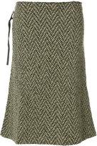 Humanoid flared tweed skirt