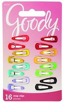 Goody Girls Contour Salon Hair Clips, Mini, 16 count, Assorted Colors