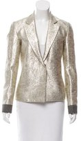 Tome Brocade Notch-Lapel Blazer