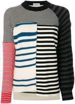 Sonia Rykiel striped panelled jumper