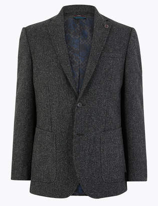 Marks and Spencer Pure Wool Textured Jacket