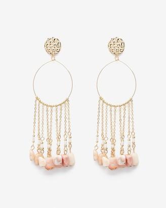 Express Multiple Chain & Stone Drop Earrings