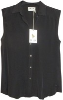 MiH Jeans Black Silk Top for Women