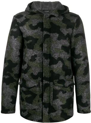 Daniele Alessandrini camouflage hooded jacket