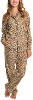 Angelina Brown & Black Leopard Pajama Set - Plus