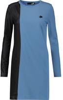 Love Moschino Mesh-paneled stretch-jersey mini dress