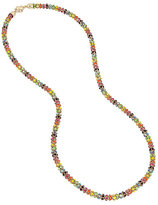 Betsey Johnson Rainbow Connection Mesh Long Necklace