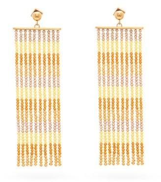 Jacquemus Rideaux Beaded-tassel Earrings - Orange