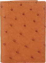 Barneys New York Men's Ostrich Card Case-TAN