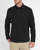 Wrangler Black Heritage Shirt with Press-Studs on Pockets