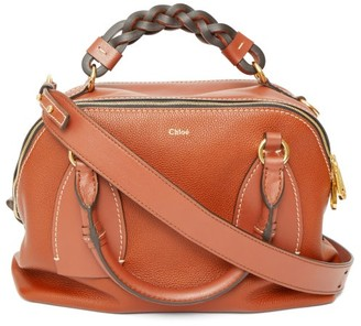 Chloé Daria Medium Leather Cross-body Bag - Brown