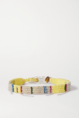 Katia Alpha - Woven Cord And Silver Bracelet - Yellow