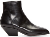 Rick Owens Black Leather Zip Berger Boots