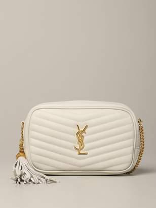 Saint Laurent Mini Loulou Bag In Grain De Poudre Leather