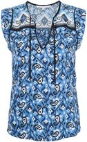 Veronica Beard printed sleeveless blouse