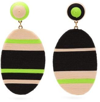 MaryJane Claverol Oxford Cord Clip-on Earrings - Yellow