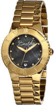 Mother of Pearl Women's Bertha Millicent BR2704 - Gold Steel/Black Wrist Watches