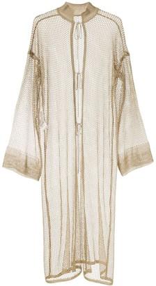 Mame Kurogouchi Oversized Mesh Coat