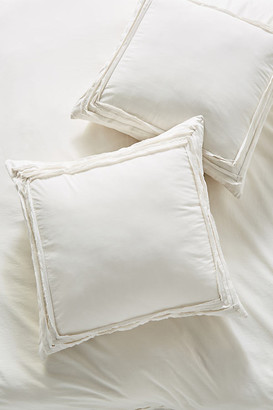 Anthropologie Joey Washed Percale Euro Sham By in Grey Size EURO SHAM