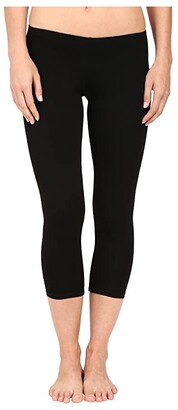 Only Hearts So Fine Crop Leggings (Black) Women's Casual Pants