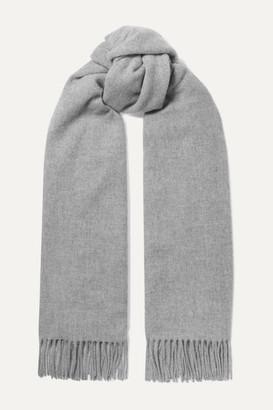 Acne Studios Fringed Melange Wool Scarf - Gray