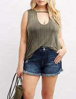 Charlotte Russe Plus Size Keyhole Cut-Out Tank Top
