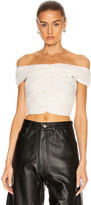 Georgia Alice Missy Crop Top in Ivory | FWRD